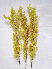 Deko 3 x Forsythie Zweig 120 cm Kunstblumen künstlich basteln Floristik wie echt