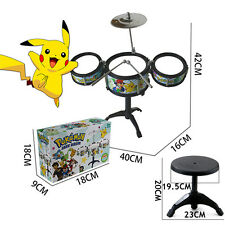 Pikachu Drum Set Kit - Musical Children Studio Big Band Play Toy - For Kids Gift