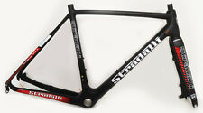 STRADALLI CARBON FIBER DISC BRAKE CYCLOCROSS GRAVEL BIKE FRAME SET 52CM S RED