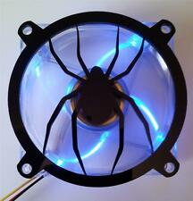 Custom 80mm SPIDER  Computer Fan Grill Gloss Black Acrylic Cooling Cover Mod