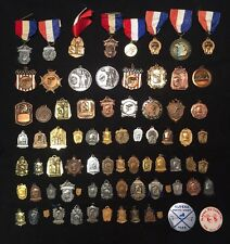 78 Vtg 40s-70s Ice Speed Skating DETROIT MICHIGAN Medal Award Fob Collection Lot