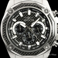 Invicta Men's 48mm Aviator Black Woven Fiber Dial Quartz Chronograph Watch