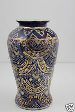 Chinese Hand Painted Vase Gold Gilt 21cm High x 13cm Diameter SIGNED
