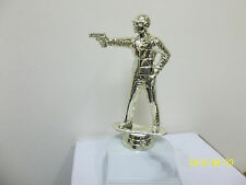 """gun pistol target shooting award trophy, comes with engraving, about 6.5"""" high"""