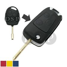 Flip Key Shell + Key Blank refit for FORD Remote Key Fob 3 Button Case SS725C