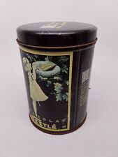 Nestle Chocolate Tin 6 inch tall 4 inch wide Vintage