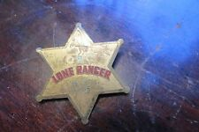 Old vintage Lone Ranger 1938 OBC Safety Club badge, pin, western hero, horse