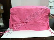 Pottery Barn Teen Dorm College Guest Tufted Ottoman Bed SLIPCOVER Pink Twill