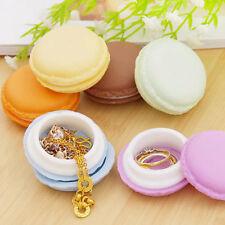 Macaron Boîte de montée collier Anneau bijoux boucles d'oreilles rangement