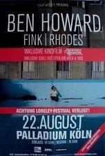 HOWARD, BEN - 2015 - Konzertplakat - Fink - Rhodes - Tourposter - Köln