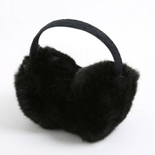 Unisex Womens Mens Black Faux Fur Soft Earmuff Winter Head Band Ear Muff Warmer