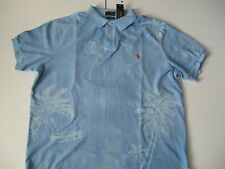 POLO RALPH LAUREN Men's Custom-Fit Tropical-Print Polo M