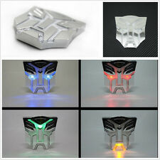 Strobe Warning Light  Badge Transformers Autobots Solar Power LED Flash Emblem