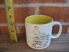 Vintage *** Hilarious Cartoon - COMPUTER WHIZ *** Ceramic Mug John Lamb KOREA