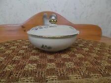 Beautiful Vintage Little Covered Dish W/Gold Leaf Made in Bavaria *EVC*