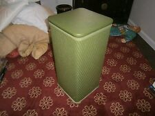 Vintage Clothing Clothes HAMPER Mid-Century MODERN Green 1950-60s Wicker