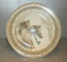 NEW Dessert plate , Side by Side Chevaux du vent pattern GIEN,  France