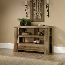 Rustic TV Stands For Flat Screens Console Table Media Log Style Cabin New
