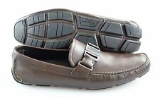 R - Men's SALVATORE FERRAGAMO 'Sardegna' Moccasins  US 10- D (Brown)
