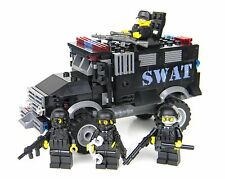 Deluxe SWAT Truck police vehicle made with real LEGO® bricks and minifigures