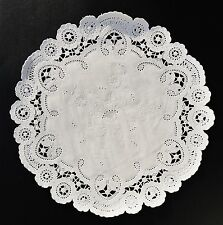 "50 - 6"" White FRENCH LACE Paper Doilies 