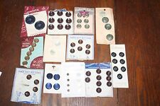 Lot of Vintage Buttons on Cards - Sewing Collectible