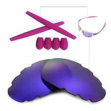 New Walleva Polarized Purple Vented Lenses And Rubber Kit For Oakley Juliet