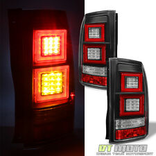 2010-2014 Land Rover Discovery IV 4 LR4 BLK LED DRL Tail Light Rear Brake Lamps