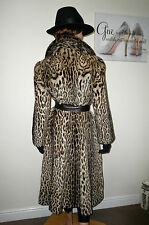 Genuine 40's Calman Links Real Fur Ocelot Coat Jacket CITES Exempt Mink 8 - 10