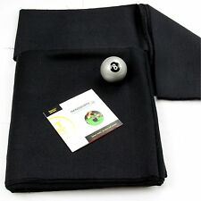 BLACK Hainsworth Elite-Pro 7ft Pool Table Bed Cushion Cloth Set + Silver 8 Ball