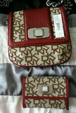 Genuine DKNY RED Side Bag with matching purse