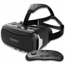 Genuine 2nd VR Shinecon Virtual Reality 3D Game Glasses+Bluetooth Control Gampad