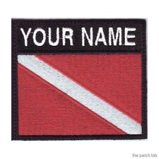 SCUBA BADGE CUSTOM FLAG EMBROIDERED SEW ON PATCH