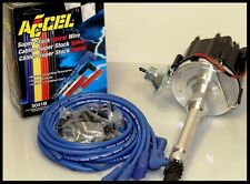 SBC CHEVY 350 383 CHEVY 65K HEI DISTRIBUTOR & ACCEL WIRE SET 6501-BK+5041-B-KIT