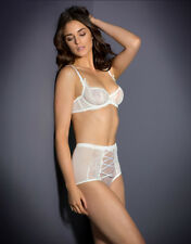 AGENT PROVOCATEUR IVORY IYLA BRA 32DD 36C 36DD& OPEN BACK BIG BRIEF SIZE 4 LARGE