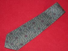 GIORGIO ARMANI * 100% Silk Men's Tie * NWOT * Brown with Rusty Red and Navy Blue