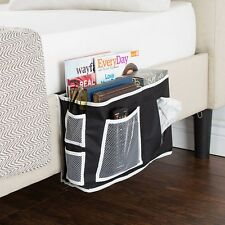 Bedside Storage Organizer Holds Remotes Books Phones Caddy 6 Pockets