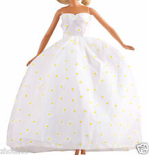 Handwork soft wedding Party Dress/Evening Clothes/Gown For Barbie Doll  1114