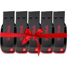 Sandisk Cruzer Blade CZ50 USB Utility Pendrive 8 GB Black & Red (Combo of 5)