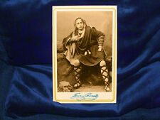 Actor Edwin Booth Cabinet Card Photograph Vintage Theater Hamlet Photograph 1870