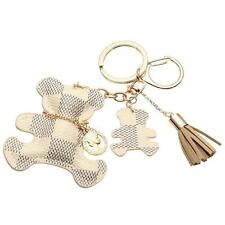 Creative leather POP Bear Love Charm Style Purse Handbag Key Chain Ring White G2
