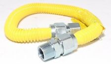 "3/8"" ID (1/2"" OD) x 36"" w/ 1/2"" MIP x 1/2"" FIP Yellow Epoxy Gas Flex Line"
