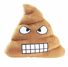 Emoji Angry Poop Cushion Pillow Stuffed Plush Toy Doll Pad Home Decor US Seller