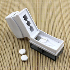 Tablet Pill Medicine Crusher Grinder Grind Splitter Cutter Safe Organize Box