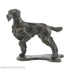 "Sue Maclaurin ""Standing Springer Spaniel"" Solid Bronze Sculpture Nelson & Forbes"