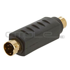 RCA Female Composite Video to S-Video VHS Male Adapter Connector Gold Plated