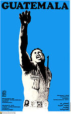 Political OSPAAAL POSTER.Guatemala Che URNG.Cold War Communism Revolution Art.6