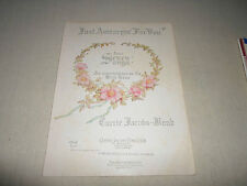 Just A wearyin' for you Wild Rose Seven Piano Solo Music Score Sheet Song Voice