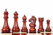 "Bud Rose wood Royal Staunton Wooden Chess Set Pieces 4.5"" with Free Wooden Box"