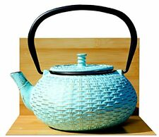 RATTAN GHISA Tea Pot Kettle 0.8 L Aqua in colore oro